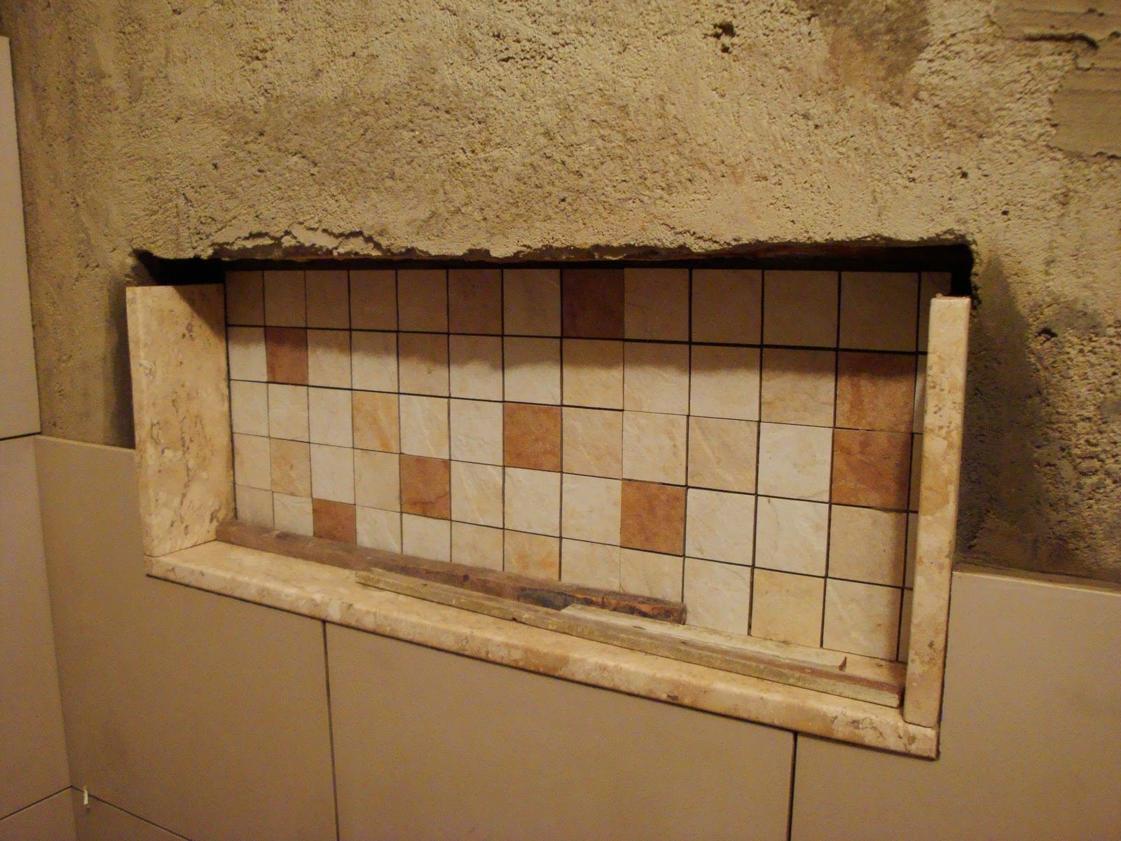 Reforma do Banheiro: Nicho para o Banheiro #3B2414 1600 1200