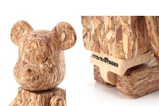 Juguetes de Madera Reciclada, Osos Ecoresponsables