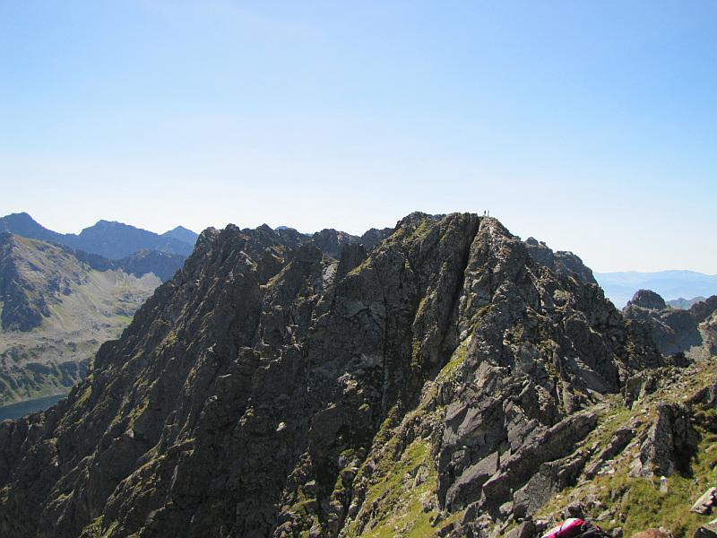 Pośredni Granat, Zadni Granat i Czarne Ściany ze stoków Skrajnego Granata.