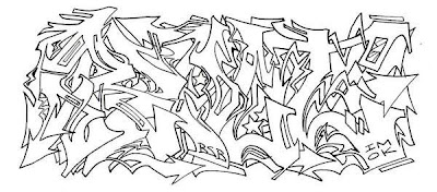 Graffiti Wildstyle Alphabets Sketches 4