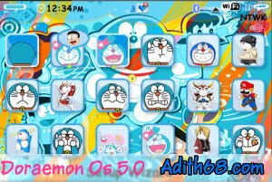 Free Download Theme Doraemon | Tema Lucu Doraemon for Blackberry Os5