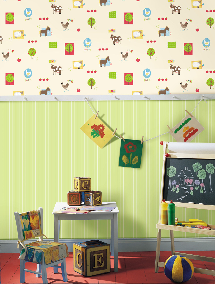 Papel pintado papel pintado infantil hoopla - Papel pintado para bebe ...