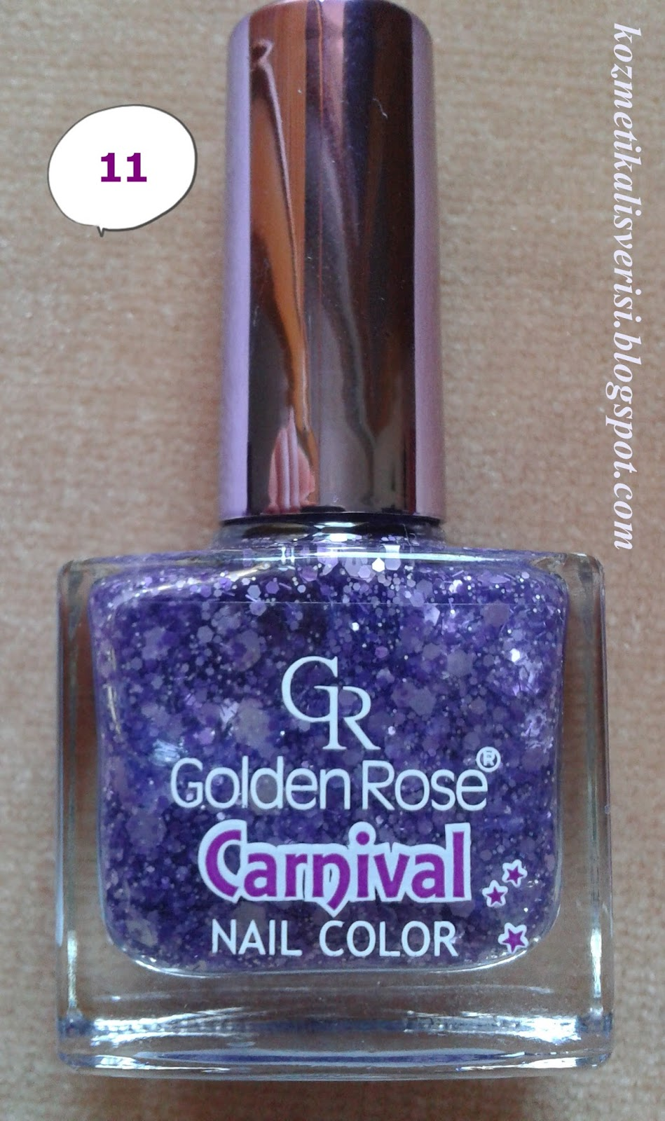Golden Rose Carnival Nail Color 11