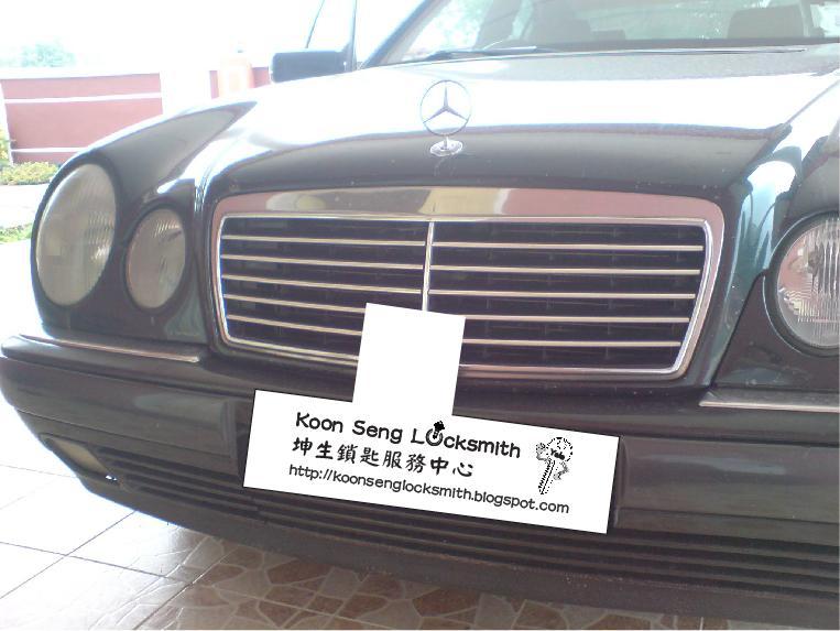 Koon seng locksmith mercedes benz e230 year 97 lost key for Mercedes benz locksmith