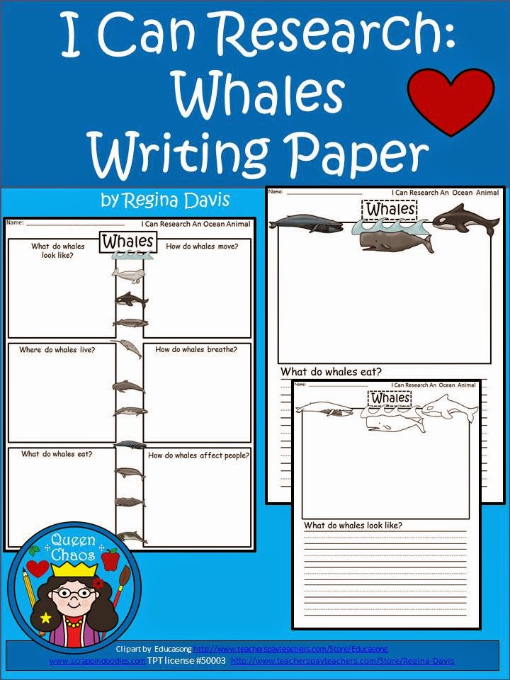 http://www.teacherspayteachers.com/Product/A-I-Can-Research-Whales-Writing-Paper-1246356