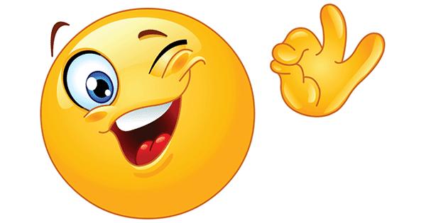 smiley winking ok symbols emoticons. Black Bedroom Furniture Sets. Home Design Ideas