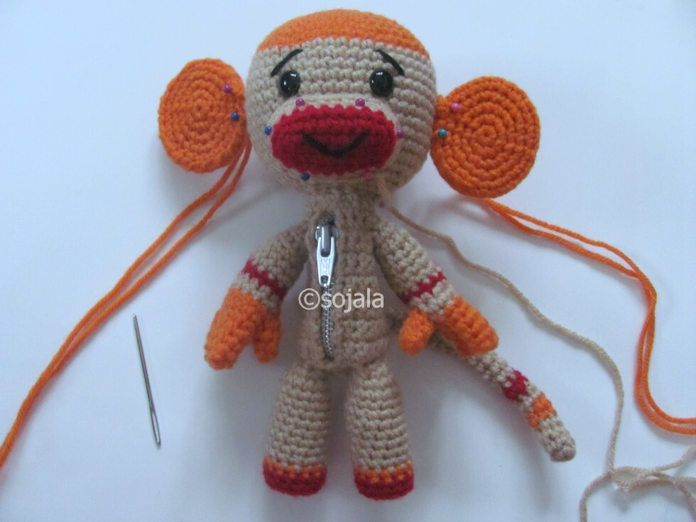 Sock Monkey Sackboy Free Crochet Pattern ~ Amigurumi To Go