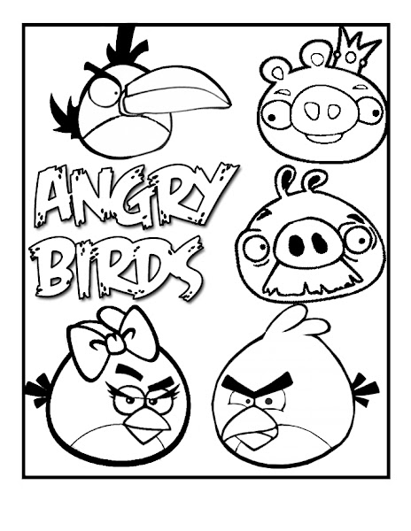Angry Birds Printable Coloring Pages for Kids