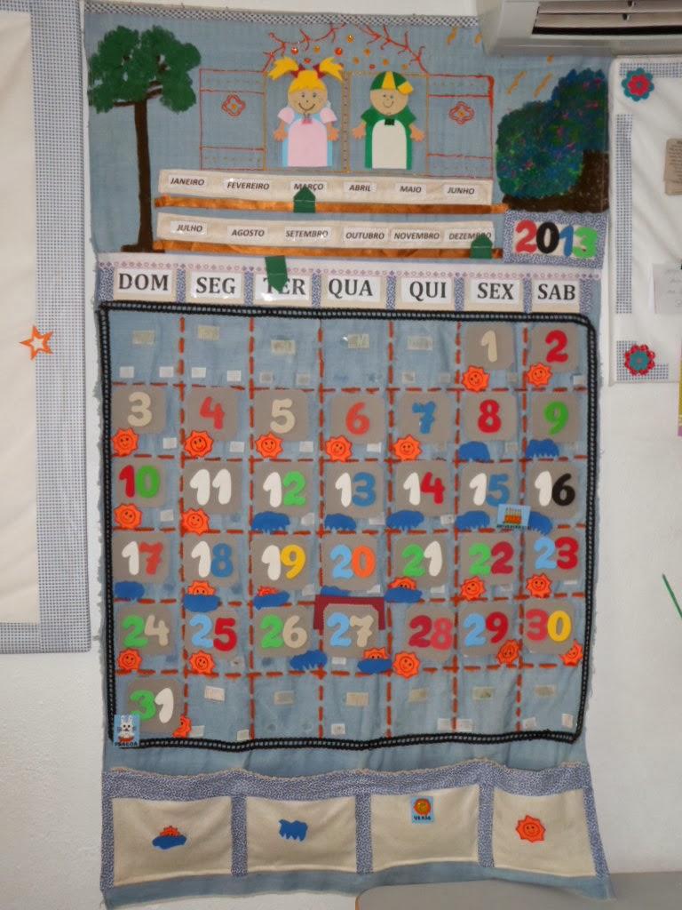 Crescendo e Aprendendo na Pré-escola: O calendário na rotina escolar