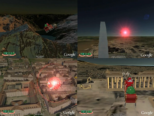 Recorrido de Santa Claus en Google Earth