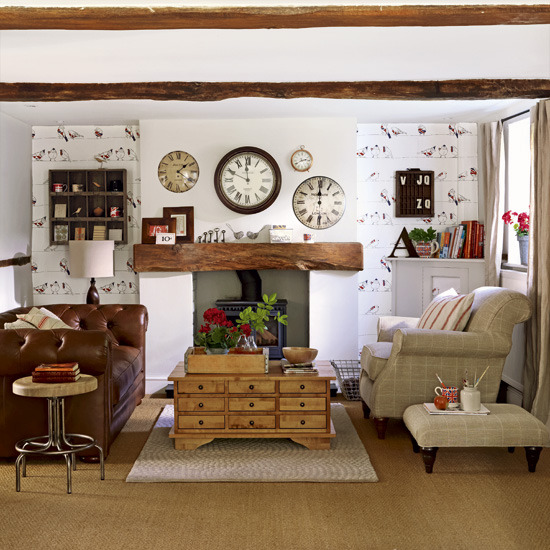 New home interior design collection of country living for Country decorating living room ideas
