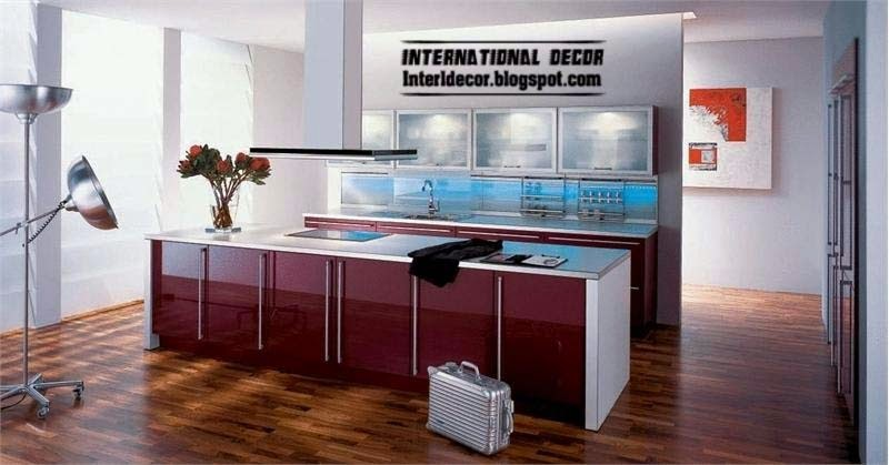 Purple kitchen interior design and contemporary kitchen for Kitchen designs 2014