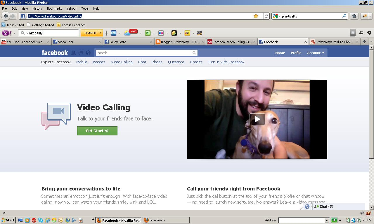 let s get started with facebook video chat 1 log in to your facebook profile 2 open a new tab or window go to http www facebook com videocalling