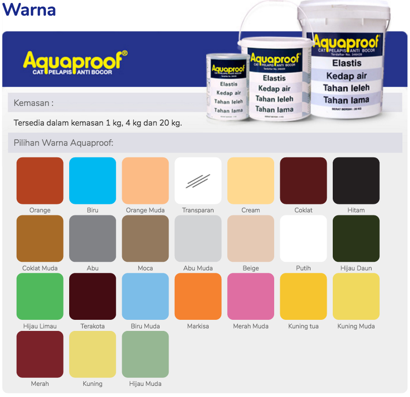 Haneutmoyan Katalog Warna Aquaproof