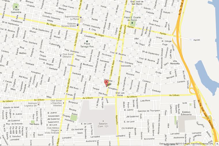 Ubicación MACH METAL en plano de Rosario