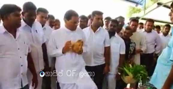 President Maithri goes Shopping