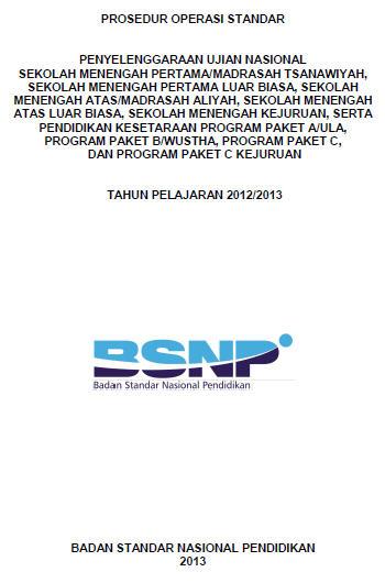 Pos UN SMP SMA SMK 2013