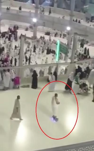 hoverboard, hajj, tawaf, kaaba, holy kaaba, man, wheel, float, fly, mecca, makkah, madina, muslim, robo-tawaf, robot, machiene
