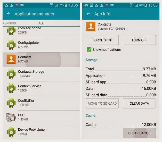 Cara Menghapus Chace di Android Samsung Galaxy S6 Edge