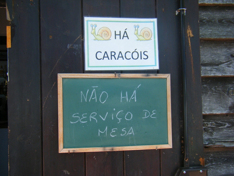 Ementa do Snack Bar - Há Caracois