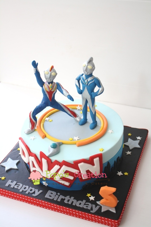 Popos Creation Ultraman Cosmos Cake