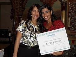 "2010-LA LIC. KARINA VIMONTE DISTINGUIDA POR ""INTEGRACIÓN INFANTIL"""