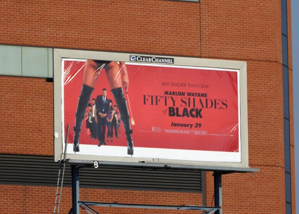 Fifty Shades of Black movie billboard