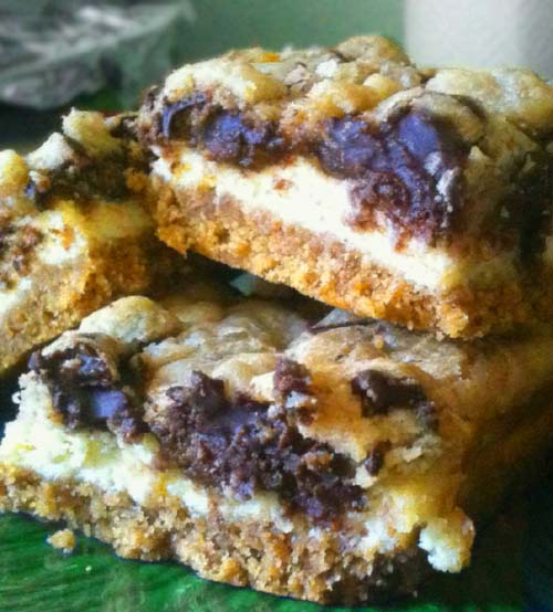 Chocolate Chip Cookie Dough Cheesecake Bars