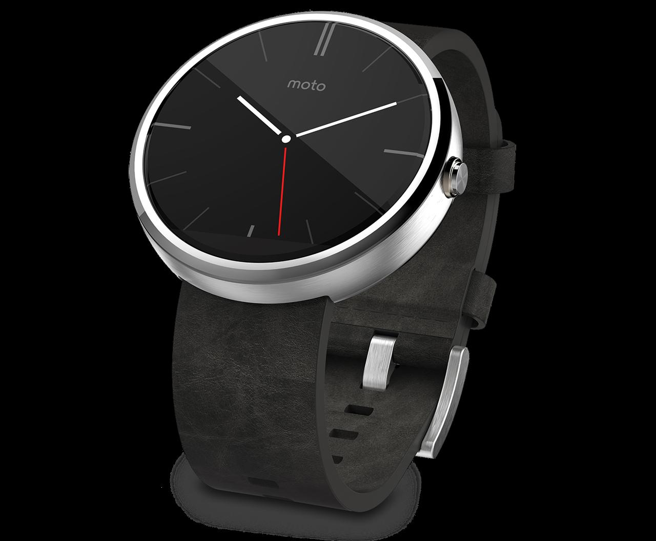 Motorola Moto 360 smartwatch running on Android Wear ...