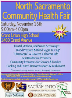 North Sacramento Community Health Fair this weekend