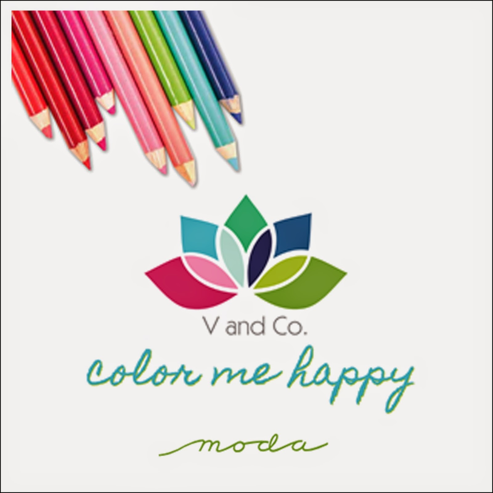 Moda COLOR ME HAPPY Quilt Fabric by V and Co.
