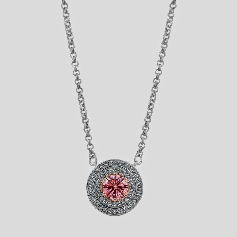 Galium Pendant in 18k White and Rose Gold