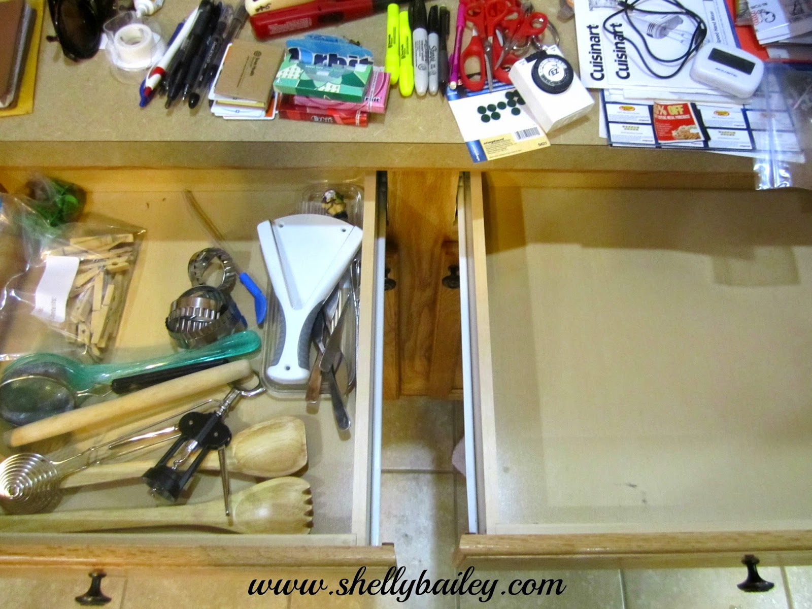 Shelly Bailey Drawer Organization For My Kitchen And Bathroom