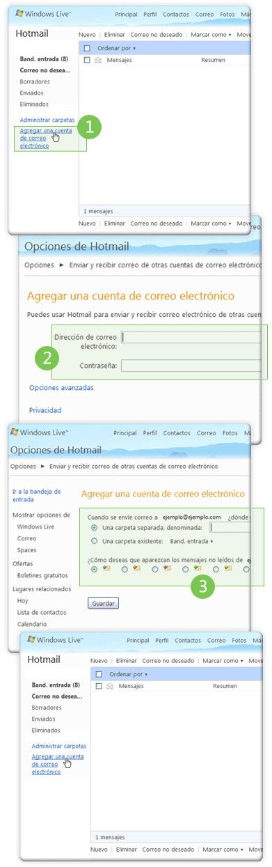 Administrar varias cuentas Hotmail