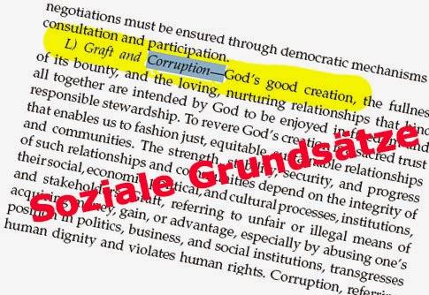 Die Sozialen Grundsätze über Korruption