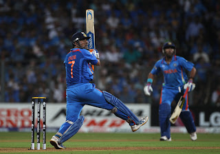 Dhoni Photos at 2011 World Cup Final, MS Dhoni World Cup Final Pics