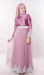 Model Gamis Pesta untuk Muslimah