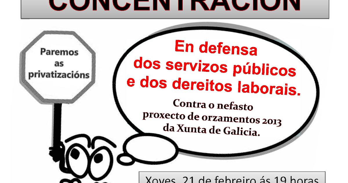 Ugt justicia galicia concentraciones 21 de febrero en for Oficina virtual xunta galicia