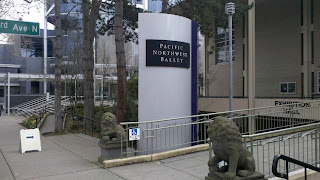 Entrance to the exhibition hall of the Pacific Northwest Ballet at Seattle Center