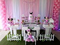 Decoração festa infantil Porto Alegre - Minnie Rosa