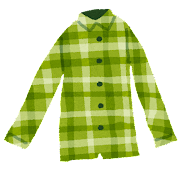 ネルシャツ・チェックシャツのイラスト