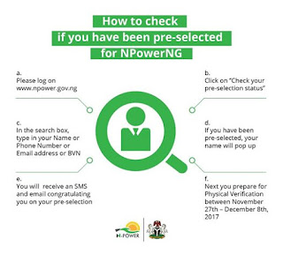N-power releases details on how to check pre-selection status for 2017 candidates