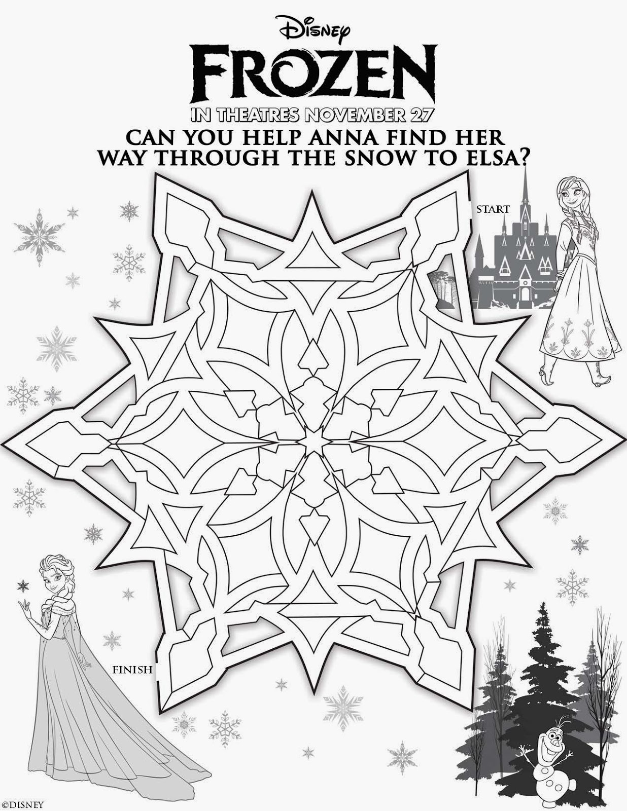 free printable coloring pages disney frozen - susieqtpies cafe disney 39 s frozen free christmas activity