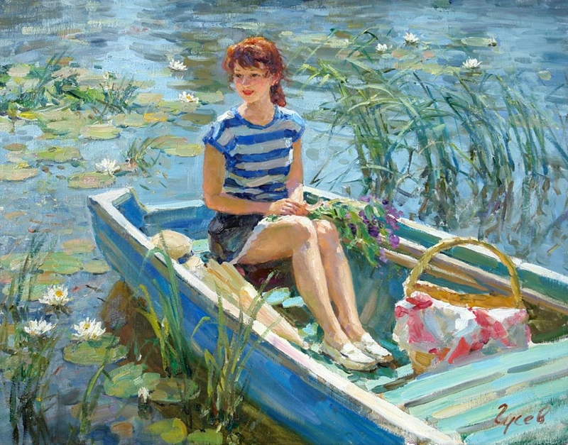 Vladimir Gusev 1957 | Russian Plein-air Figurative painter