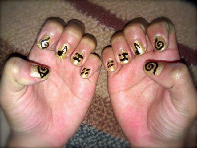 It\'s All About Nail Arts: Naruto Inspired Symbols Nail Art