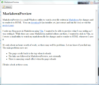 MarkdownPreview 0.1.0