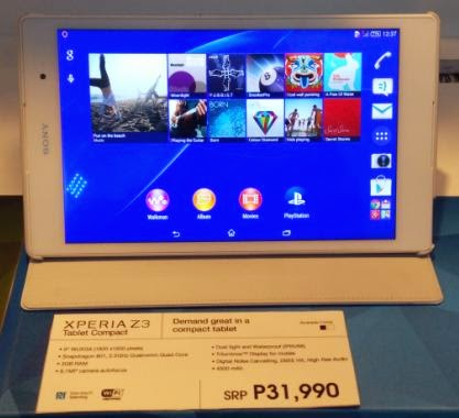 Sony Xperia Z3 Tablet Compact Launched Locally For Php31,990