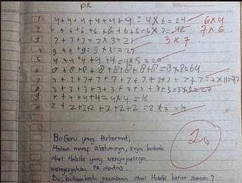 Inilah Kebenaran PR Matematika Kelas 2 SD Yang Menghebohkan