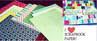 Scrapbook paper DIY table placemats