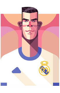 Gareth Bale Real Madrid Cartoon (Kartun) Wallpaper